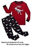 Dinosaur Big Boys Long Sleeve Pajamas 100% Cotton Clothes Size 14