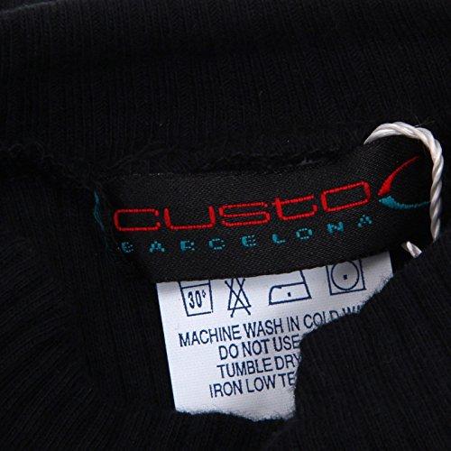 Barcelona Black D5784 Custo Donna Nero Slim Fit Shirt t Woman Lupetto ZtwR7pRqx