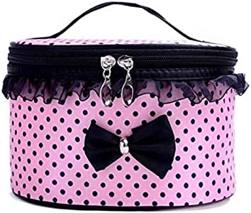 Polyester Bow Storage Bag, Pink