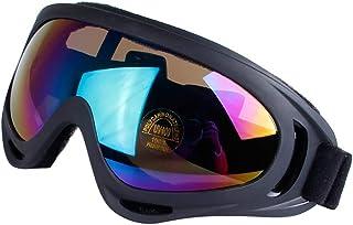 Minions Boutique Lunettes de Ski Lunettes de Moto Amovible Lentilles UV 400Protection Coupe-Vent Anti-poussière Masque de Ski Lunettes de sécurité Homme Femme