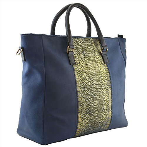 HAMMER COAL Tote da viaggio, Blue & Gold (multicolore) - BAG-234