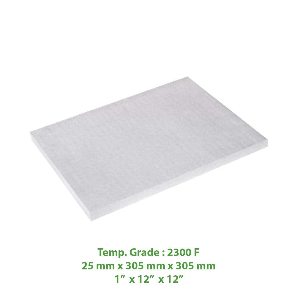 Ceramic Fiber Insulation Board (2300 F) (1' X 12' X 12') for Thermal Insulation in Wood Stoves, Fireplaces, Pizza Ovens, Kilns, Forges & More. Spectra Overseas
