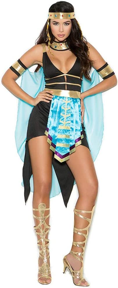 CAGYMJ Dress Party Mujer Vestido,Cosplay Negro Sexy Diosa Griega ...
