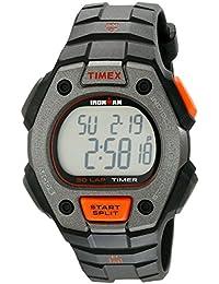 Men's TW5K90900 Ironman Classic 30 Full-Size Black/Orange Resin Strap Watch