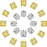 Mudder Dreadlocks Beads Aluminum Dread Locks Metal Cuffs Hair Decoration Braiding Hair Jewelry, 50 Pieces