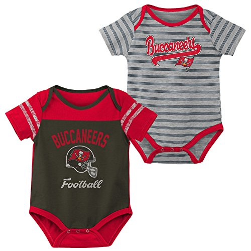 Outerstuff NFL NFL Tampa Bay Buccaneers Newborn & Infant Dual-Action 2 Piece Bodysuit Set Pewter Black, 0-3 Months