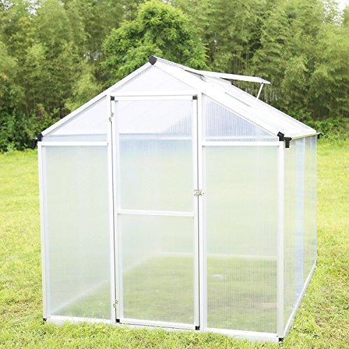 Walcut 6FT By 8FT Magic Garden Series Walk in Aluminum Greenhouse Silver (6' x 8.2' x6.4′) Review