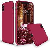 SURPHY Coque iPhone XR, Antichoc Coque Silicone Liquide Gel Anti-Rayures Ultra Mince Premium avec Doux Microfibre...