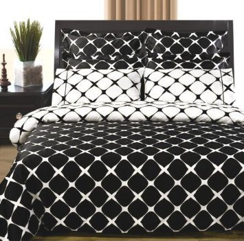 Royal Tradition 3PC Bloomingdale Black and White Twin Ext...