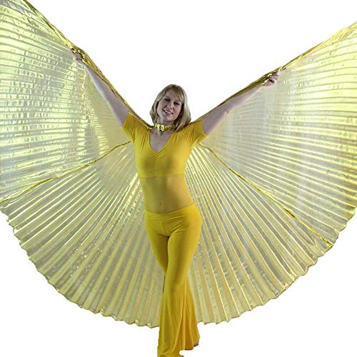 (Danzcue 360 Degree Worship Isis Wings, Transparent Gold,)