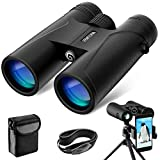 VEMTONA 12x42 Binoculars for Adults, Compact HD Professional Binoculars for Hunting, Concert Travel Bird Watching Sports Traveling, BAK4 FMC Lens with Carrying Bag and Neck Strap (Pro Version)