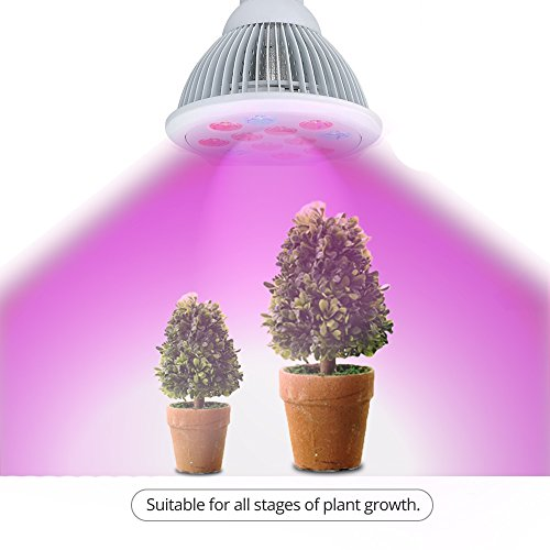 I-PURE ITEMS TM 24W LED Grow Light Bulb, High Efficient Plant Growing Lamps for Garden, Greenhouse, Indoor Gardening,Hydroponic and Family Balcony