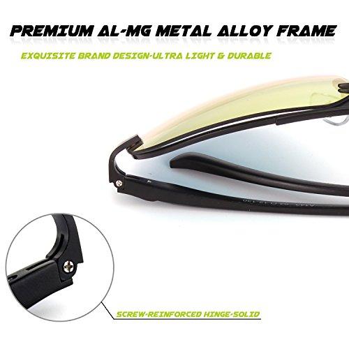 MOS1 Hinges Pilote lunettes Noir polarisées 2 de Spring Premium Orange Mg GQUEEN soleil Al Rx6fvEq
