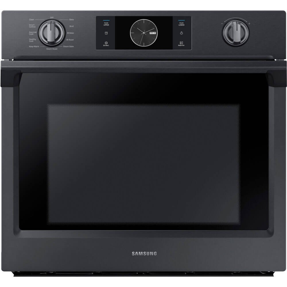 """Samsung Appliance NV51K7770SG 30"""" 5.1 cu. ft. Total Capacity Electric Single Wall Oven with Top Broiler, in Black Stainless Steel"""