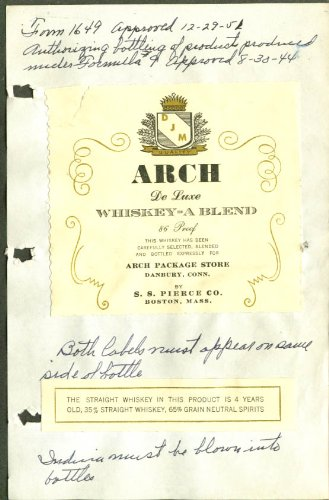 Arch Package Store Whiskey label Danbury CT - Stores Danbury