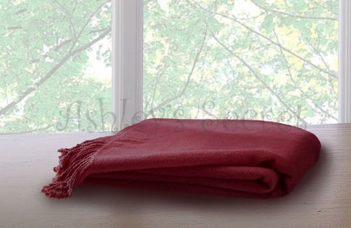 Burgundy Throw (Marcini Bamboo Fiber Cotton Throw Blanket – Burgundy)