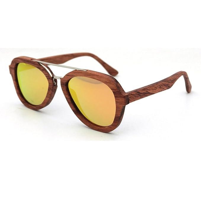 LiHOOD Palo de rosa gafas de sol hombres mujeres hechas a ...
