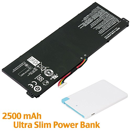Battpit™ Laptop/Notebook Battery Replacement for Acer Aspire ES1-512-C96S (3090mAh / 46Wh) with 2500mAh Power Bank/External Battery for Micro USB & USB Type ()