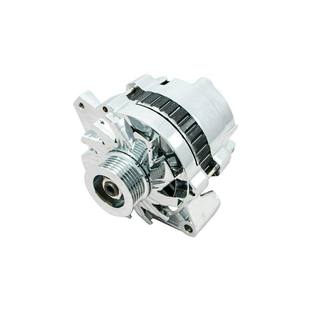 SB V8 GEN 6 GM Diesel V8 I II Oldsmobile V8 GM V6 V A-Team Performance GM CS130 Style 110 Amp Alternator with Serpentine Pulley Compatible with Chevrolet BB V8 GEN Chrome GM Inline 4