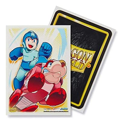 Dragon Shield Classic Art Megaman and Rush Standard Size 100 ct Card Sleeves Individual Pack: Toys & Games