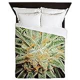 CafePress - Cannabis Sativa Flower - Queen Duvet Cover, Printed Comforter Cover, Unique Bedding, Microfiber
