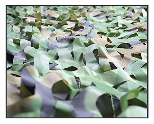 SJIAWZW Rete esterna mimetica, ombreggiatura mimetica Protezione solare crittografia ispessita rete decorativa verde (jungle mimetica) (dimensioni   5  10m)