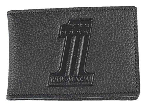 Harley-Davidson Men's Embossed #1 Logo Leather Duo-Fold Wallet (Harley Duo)