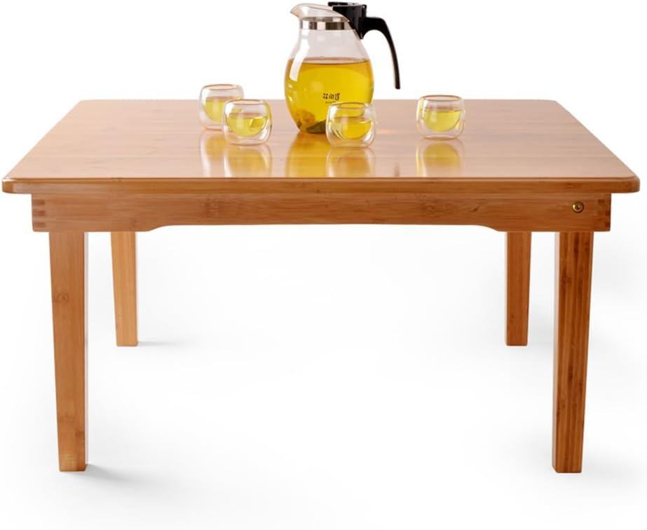 HU スクエアテーブルSimplediningテーブルベッドブックコンピュータデスクコーヒーテーブルローテーブル折りたたみスモールテーブルダイニングテーブル、オプションのサイズ (Color : 80*80*42cm)