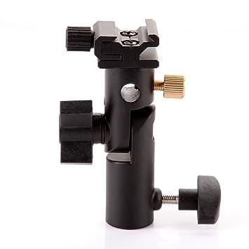 Soporte de luz universal, profesional, tipo E, giratorio, con soporte para paraguas