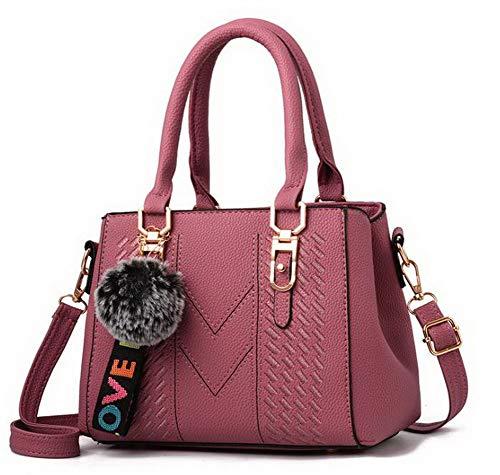 Dacron a Donna tracolla Tote FBUIBC181851 Style Borse Rosa AllhqFashion Shopping Moda Nero daqw80Xx