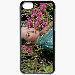 Personalized iPhone 5C Cell phone Case/Cover Skin Amanda Seyfried Blonde Dress Colors Black