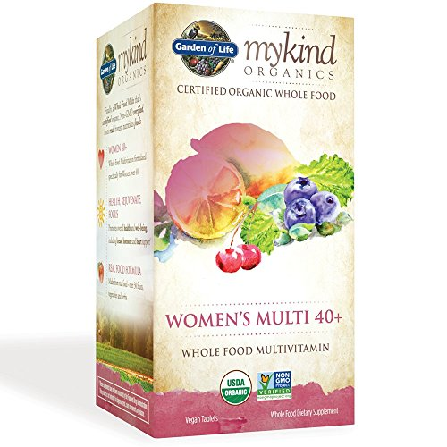 Garden of Life Multivitamin for Women - mykind Organic Womens 40+ Whole Food Vitamin Supplement, Vegan, 60 Tablets