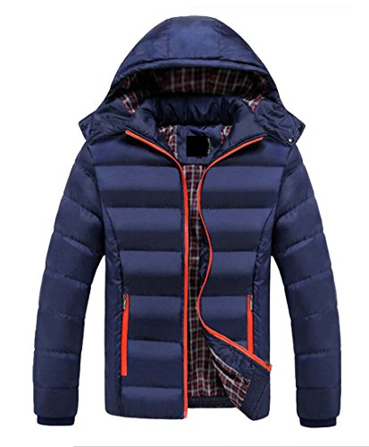 today-UK Men Winter Warm Jacket Zip Up Hoodie Down Coat Outerwear Parka Hooded Overcoat 2