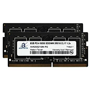Image of Memory Adamanta 16GB (2x8GB) Laptop Memory Upgrade for HP ZBook 15 G4 & ZBook 17 G4 Mobile Workstation with Intel i5 & i7 Processors DDR4 2400Mhz PC4-19200 SODIMM 2Rx16 CL17 1.2v RAM DRAM