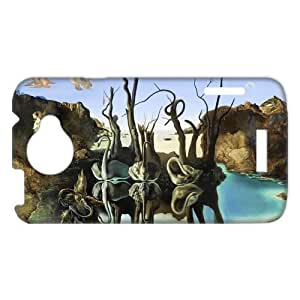 3D Print Salvador Dali painting Theme Case Cover for HTC One X- Personalized Cell Phone Protective Hard case Shell