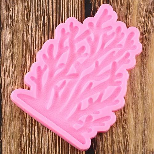 Kuchen Geschmack Bord/üre Kuchen Party Fondant WQSD Korallen-Silikonform f/ür Kuchen Schokolade Dekoration Backform Werkzeug