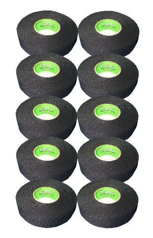 Renfrew 10 Roll Pack, Ice Hockey Stick Blade Handle Tape, BLACK, 24mm x 25yd