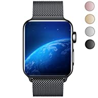 Yearscase Milanese Loop Replacement Band for Apple Watch Series 1 Series 2 Sport&Edition 42MM - Black