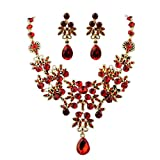 Deals Necklace+Earrings Jewelry Set Womens Mixed Style Bohemia Color Bib Chain Necklace Earrings Jewelry by ZYooh