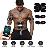 UBOWAY ABS Stimulator Abdominal Muscle Toner - EMS Muscle Trainer Toning Belt Wireless Body Gym Abdomen Leg Arm Workout Home Office Fitness Equipment for Men/Women (APP)
