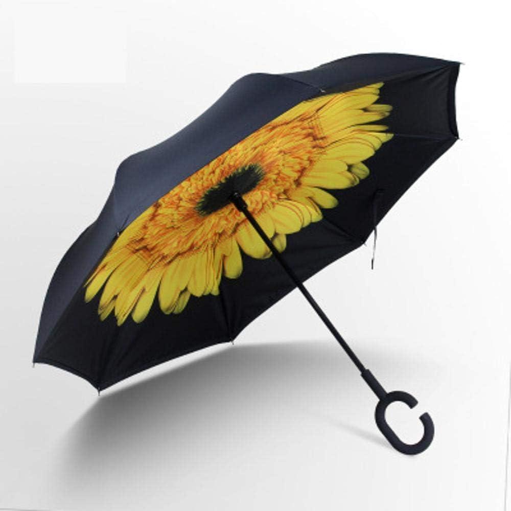 TtKj Folding Umbrella Double-Sided Reverse Umbrella C-Type Free Standing Sun Umbrella 81107cm