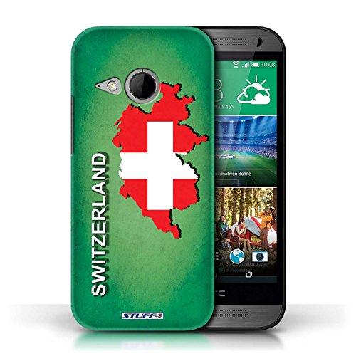 Kobalt® Imprimé Etui / Coque pour HTC One/1 Mini 2 / Suisse/Swiss conception / Série Drapeau Pays