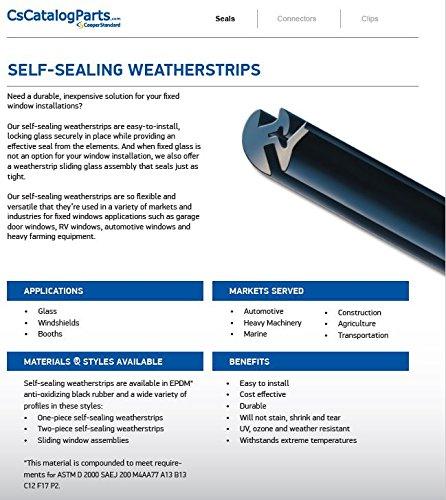 Cooper Standard Catalog Parts Self-Sealing Weatherstrips Lock Strip, Length 200', Width .400'', Pkg Qty 1 roll x 200', AS937 Filler Strip Part No: 75000687 by Cooper Standard (Image #3)