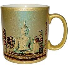 Budda of Thailand Metallic Gold Sparkle Coffee Mug