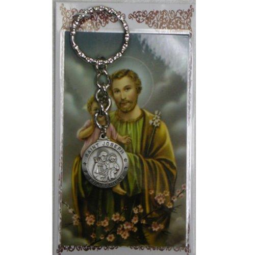 St Joseph Key Ring / Prayer Card - St Queen Stores