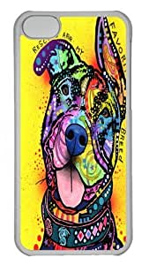 iPhone 5C Case and Cover - MyFavoriteBreed Polycarbonate Hard Case Back Cover for iPhone 5C Transparent