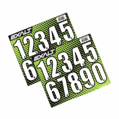 paintball number stickers - 3