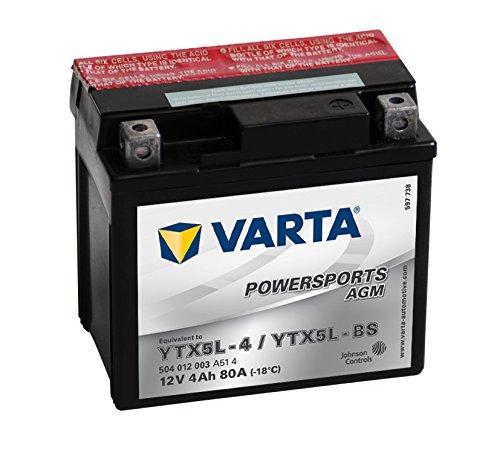 58008 VARTA 504012003A514 Powersports AGM Motorradbatterie 4Ah YTX5L-BS 12 V