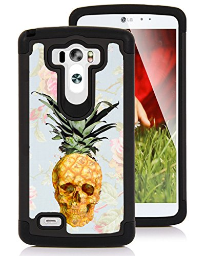 CorpCase LG G3 Case - Pineapple skull cool hipster/ Hybrid Unique Case With Great Protection