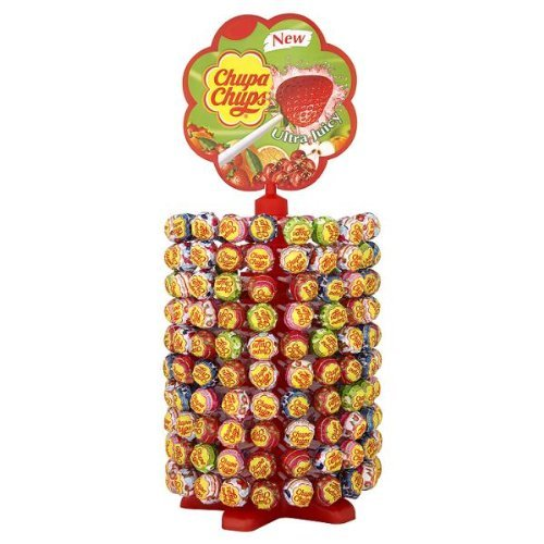 Chupa Chups Display with 200 Assorted Lollipops
